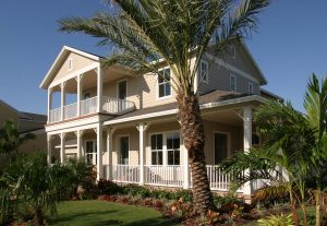 Gulfview Ext Side View, representing custom house builder